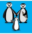 Penguin family Love feeling vector image