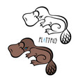 Platypus can be used as mascot vector image
