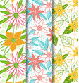 Beautiful-flower-seamless-patterns vector image