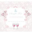 Ballroom dancers silhouettes - invitation card vector image