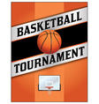 Basketball Tournament Flyer Poster vector image vector image