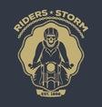 skull motorcycle logo vector image