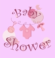 background - baby icons set vector image