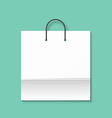Bag isolated on a green background Green paper vector image
