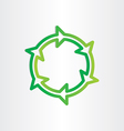 eco recycle green symbol vector image