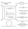 figured rope frames knots borders and corners vector image