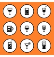 glassful icon set vector image