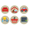 home icons collection vector image