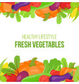 seamless vegetable border vector image