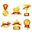 Trophy and prize emblem vector image