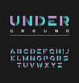 underground decorative bold typeface vector image