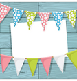 bunting decoration vector image vector image
