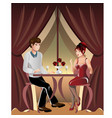 man and woman in a restaurant vector image