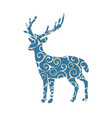 deer woodland color silhouette animal vector image