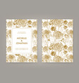 wedding invitation with golden japanese vector image