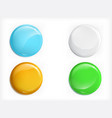 Colored glossy round buttons realistic set vector image