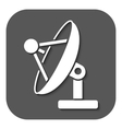 The satellite antenna icon Communicate and vector image