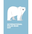 Polar bear hand drawn  flat style vector image