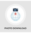 Photo download flat icon vector image