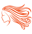 orange hair vector image