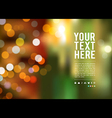 Abstract bokeh background at night new year vector image