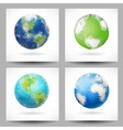 Backgrounds with triangular planet Earth vector image