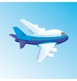 cartoon with airplane vector image