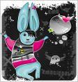 emo rabbit vector image