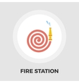 Fire Station flat icon vector image
