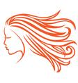 Orange hair vector image