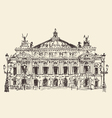 Paris France Palais Garnier Paris opera house vector image