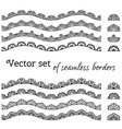 set of seamless borders vector image