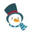 snowman xmas cartoon vector image