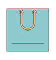 square shopping bag icon with handle in colorful vector image