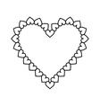 valentine day heart decorative outline vector image