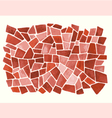 Watercolor red pattern vector image