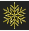 Golden snowflake from Christmas decoration vector image