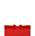 Holiday background with red ribbon and bow vector image