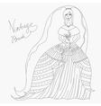 vintage bride vector image vector image