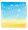 Watercolor blue sky vector image