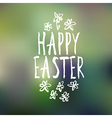 easter greeting with bokeh background vector image