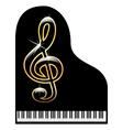 Piano-musical instrument vector image