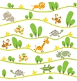 Seamless pattern with funny african animals vector image