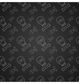 Black pattern with skulls vector image