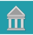 columns building isolated icon vector image
