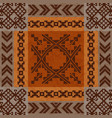 ethnic ornament carpet design vector image