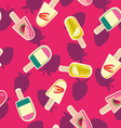 Fruit ice-creams pattern vector image