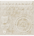 lacy scrapbook design patterns vector image