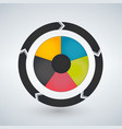 round chart divided into 5 sectors modern vector image
