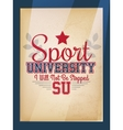 Sport Varsity Poster vector image